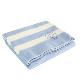 BABY TRAPPER WOOL BLANKET, BLUE BELL