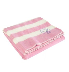 BABY TRAPPER WOOL BLANKET, PRISM PINK