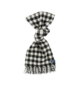 MINI BUFFALO CHECK WOOL SCARF, NATURAL