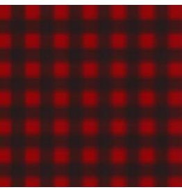 MINI BUFFALO CHECK WOOL SCARF, RED