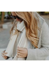 OSLO WOOL SCARF, NATURAL
