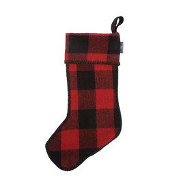 Faribault Woolen Mill Co. BUFFALO CHECK STOCKING, RED