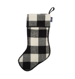 Faribault Woolen Mill Co. BUFFALO CHECK STOCKING, WHITE