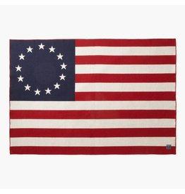 Faribault Woolen Mill Co. 1776 FLAG WOOL THROW