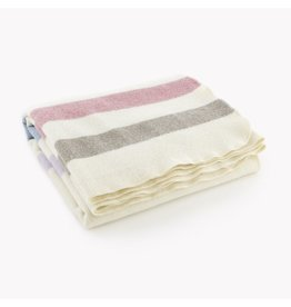BABY TRAPPER WOOL BLANKET, MULTI-PASTEL