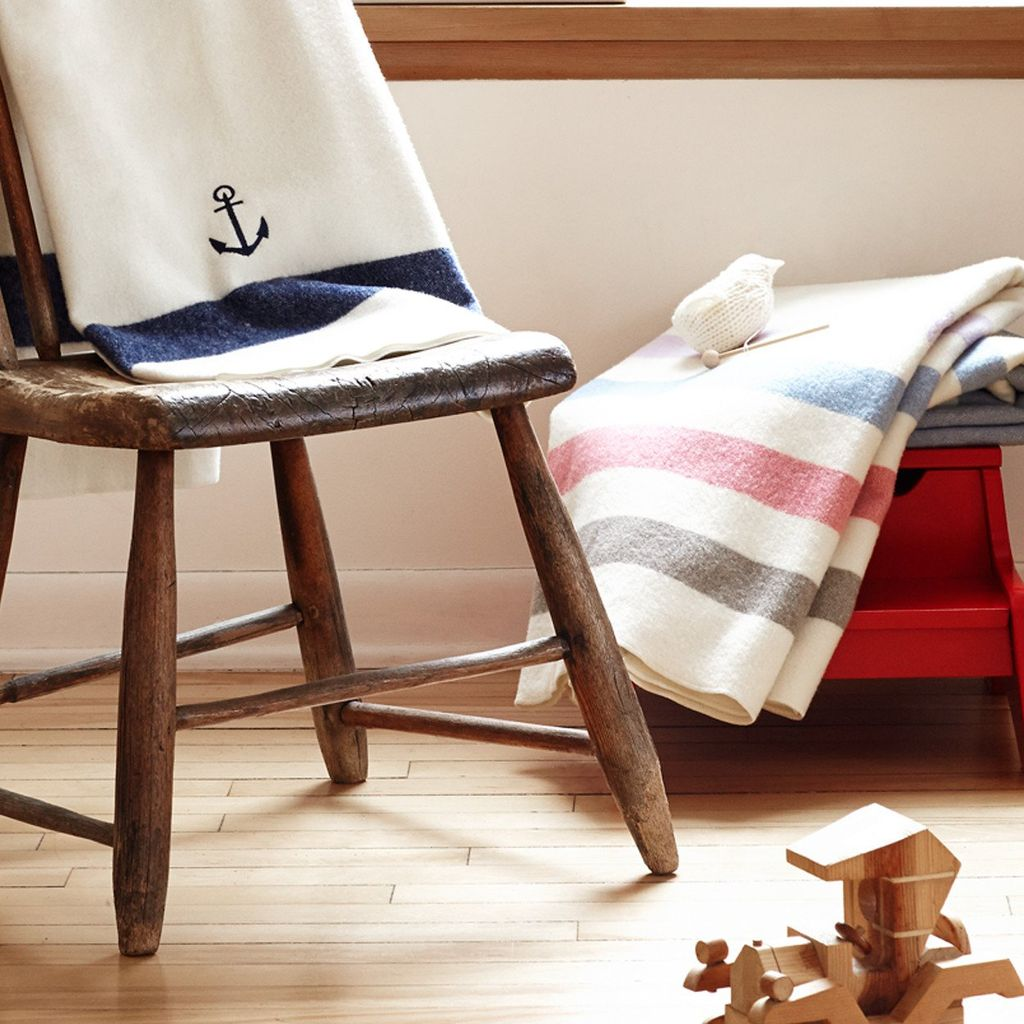 BABY ANCHOR WOOL BLANKET