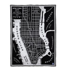 Faribault Woolen Mill Co. VINTAGE CITY MAP WOOL THROW - NYC
