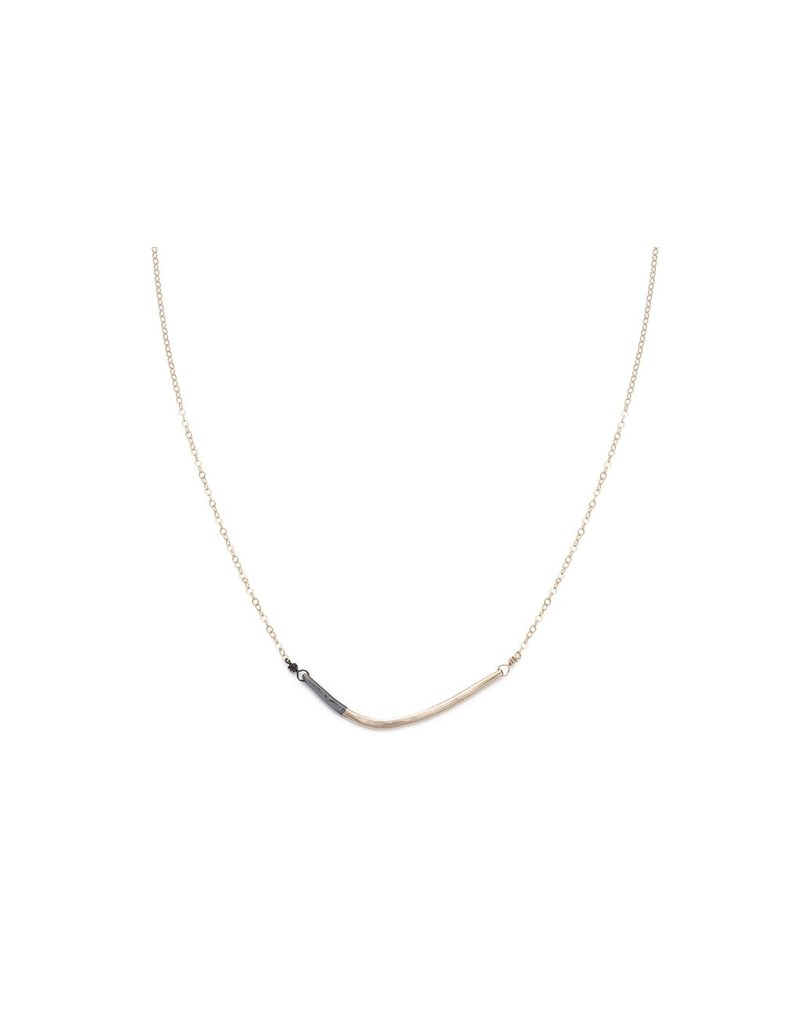 Colleen Mauer Designs Black & Gold Mini Inflecto Necklace