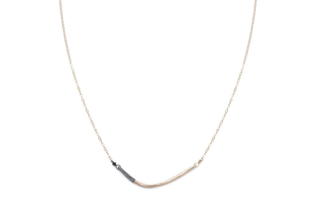 Black & Gold Mini Inflecto Necklace