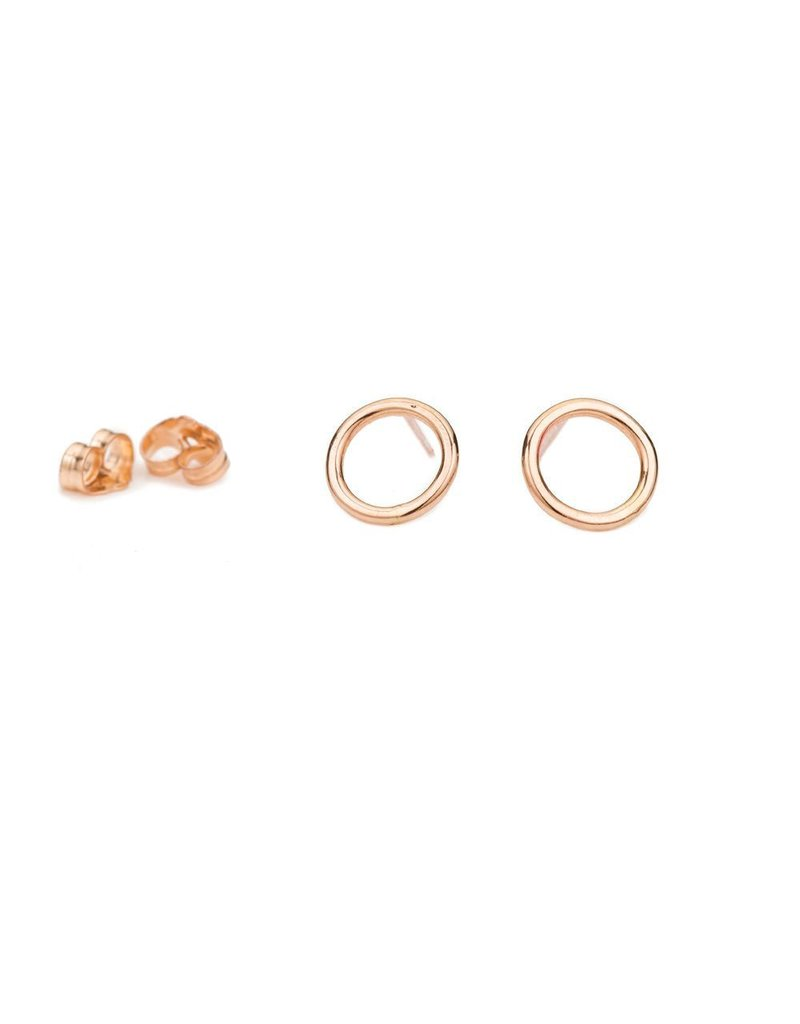 Colleen Mauer Designs Small Circle Rose Gold Studs