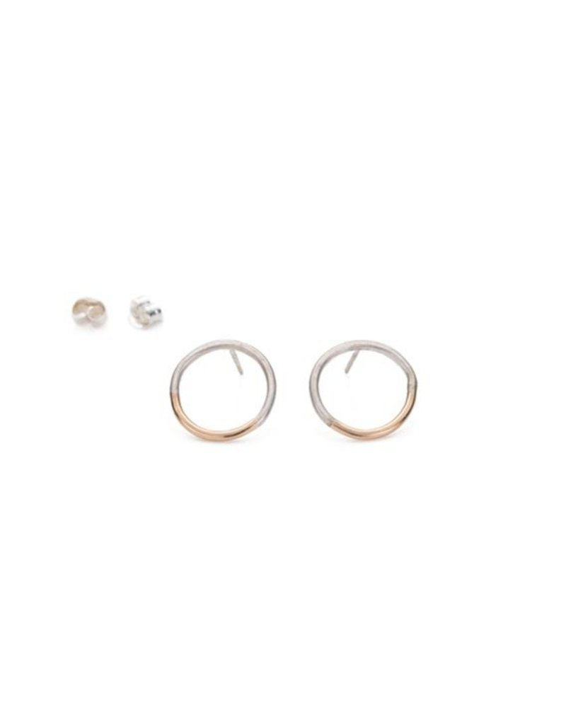 Colleen Mauer Designs Silver & Gold Circle Post Earrings
