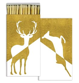 Matches - Stag & Doe - Gold Foil