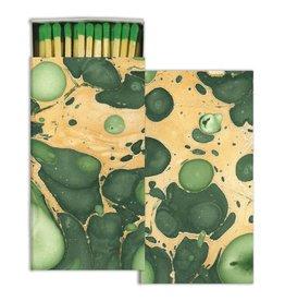 HomArt MATCHES - MARBLEIZED PAPER - GREEN