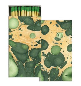 MATCHES - MARBLEIZED PAPER - GREEN