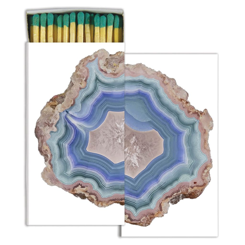 MATCHES - BLUE AGATE<br /> MATCHES - STAG &amp; DOE - GOLD FOIL