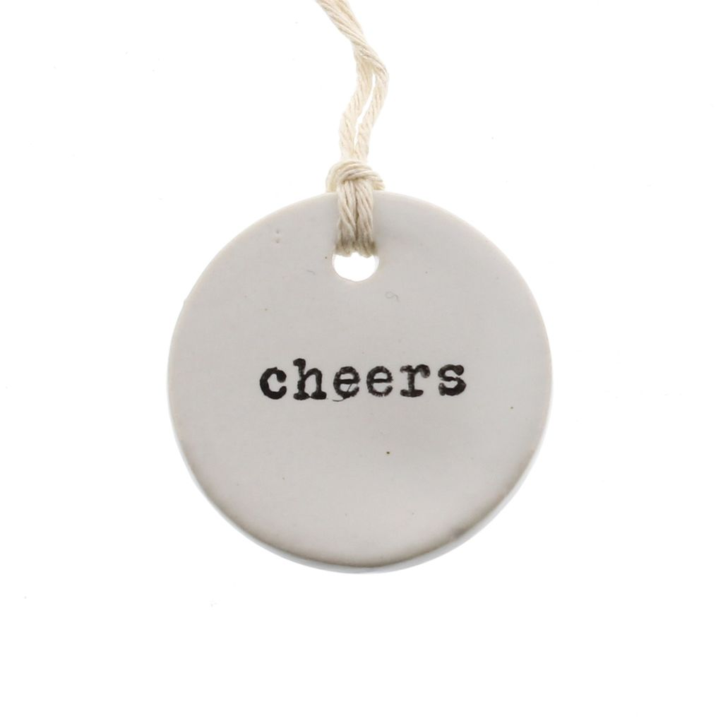 CERAMIC TAGS - CHEERS