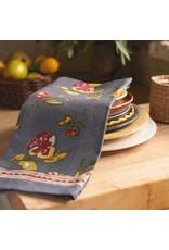 Pansy Tea Towel, Red & Grey