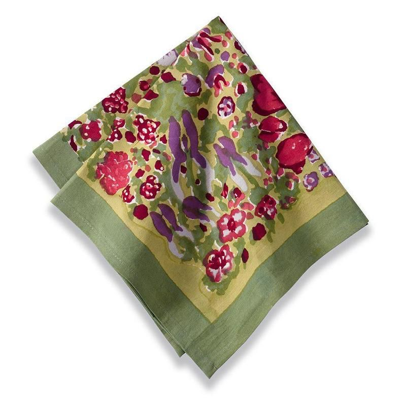 Jardin Napkin, Red & Green