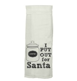 Twisted Wares Put Out for Santa Kitchen Towel