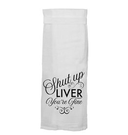 Twisted Wares Shut Up Liver Towel