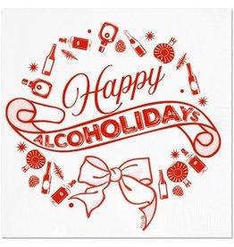 Happy Alcoholidays Napkins