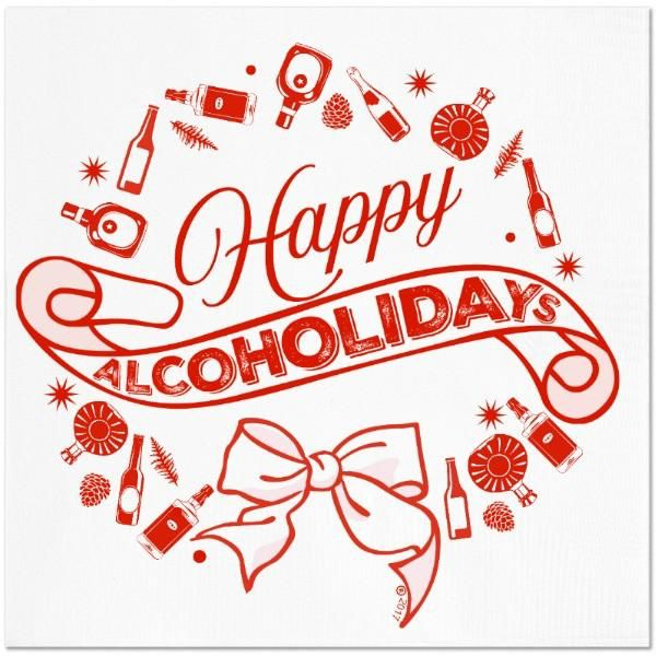 Happy Alcoholidays Napkins