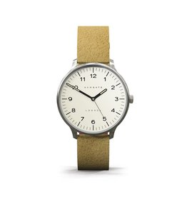 Newgate THE BLIP, CREAM DIAL WITH SUEDE STRAP