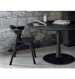 "Torsion Dining Table  50""x50""x30""<br /> Matte Black Solid OAK"