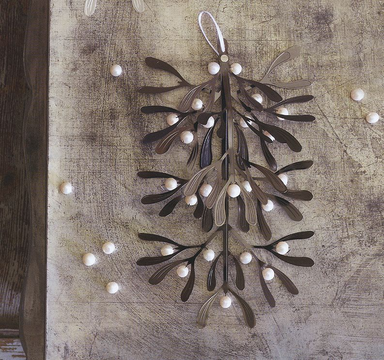 Black Nickel Beaded Mistletoe