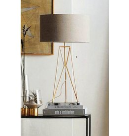 Brass Table Trestle Lamp