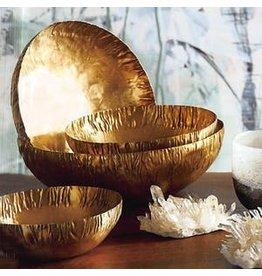 Roost Crinkled Brass Bowls, Set of 6