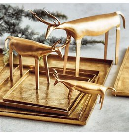 Roost Rustic Brass Reindeer, Small