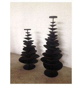 BLACK IRON TREE CANDLE HOLDER - SMALL<br /> W:12 D: 12 H: 25.5