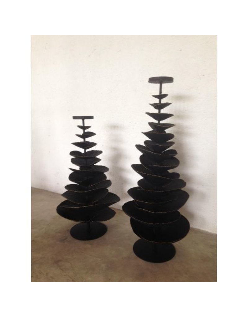 Accent Decor BLACK IRON TREE CANDLE HOLDER - SMALL
