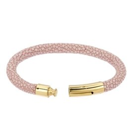 Genuine shagreen 6mm cord bracelet, PINK