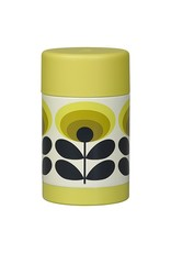 Food Flask, 70s Oval Flower, Yellow