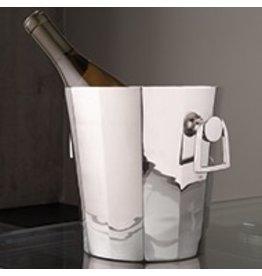 Round Octagonal Ice Bucket w/Handles
