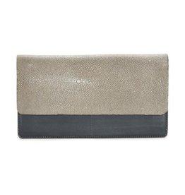 Vivo Fold-front Wallet- Cadet/Cement