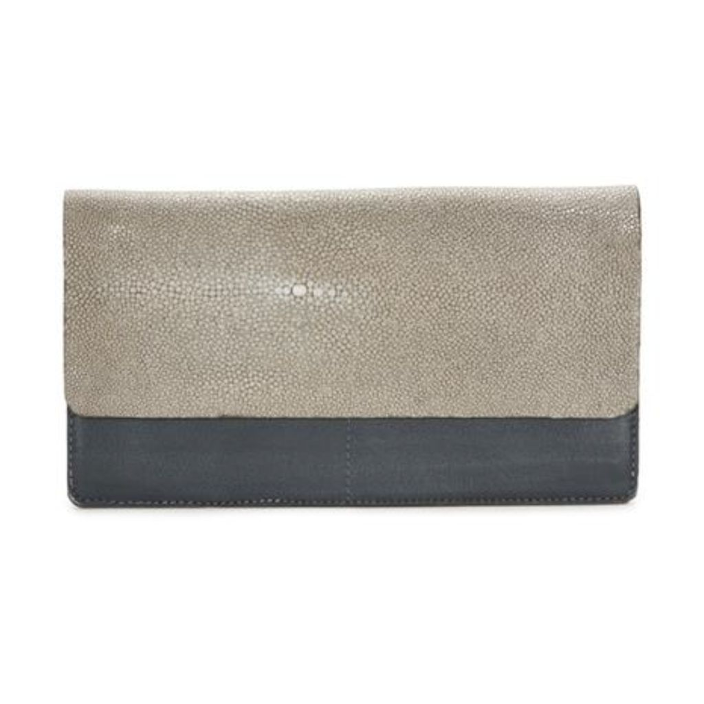 Fold-front Wallet- Cadet/Cement
