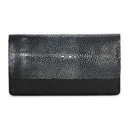 Fold-front Wallet- Black/Black