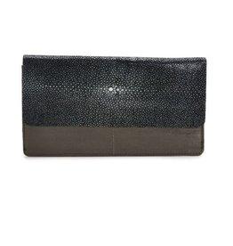 Vivo Fold-front Wallet- Stone/Black