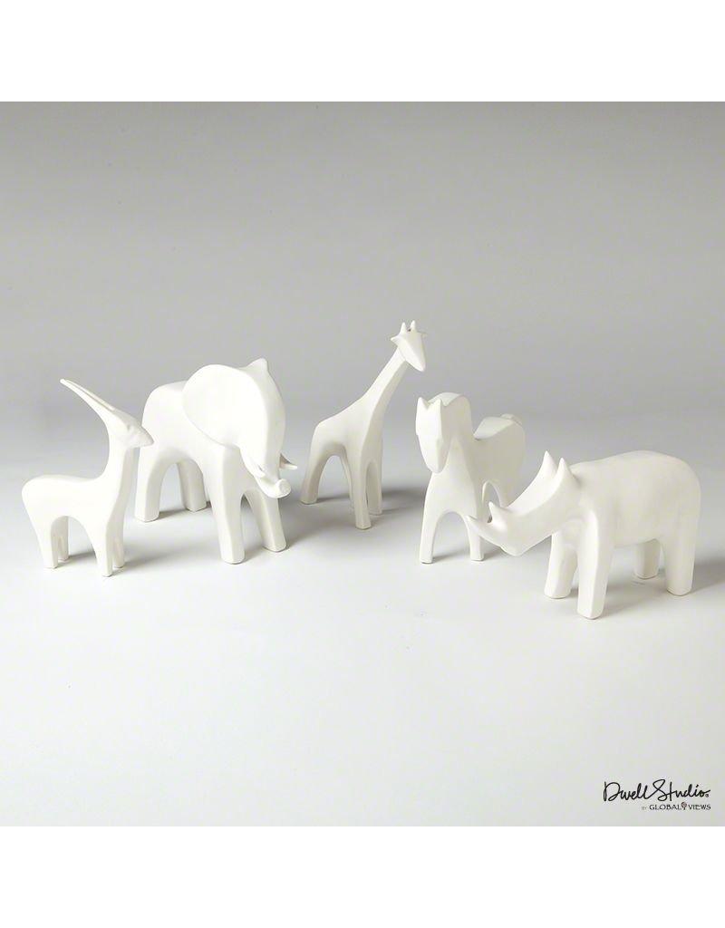 Global Views Antelope-Matte White