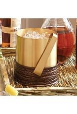 Forest Ice Bucket-Antique Copper &amp; Satin Brass<br /> 9&quot;L x 7.5&quot;W x 8&quot;H