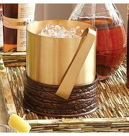 Global Views Forest Ice Bucket-Antique Copper &amp; Satin Brass<br /> 9&quot;L x 7.5&quot;W x 8&quot;H