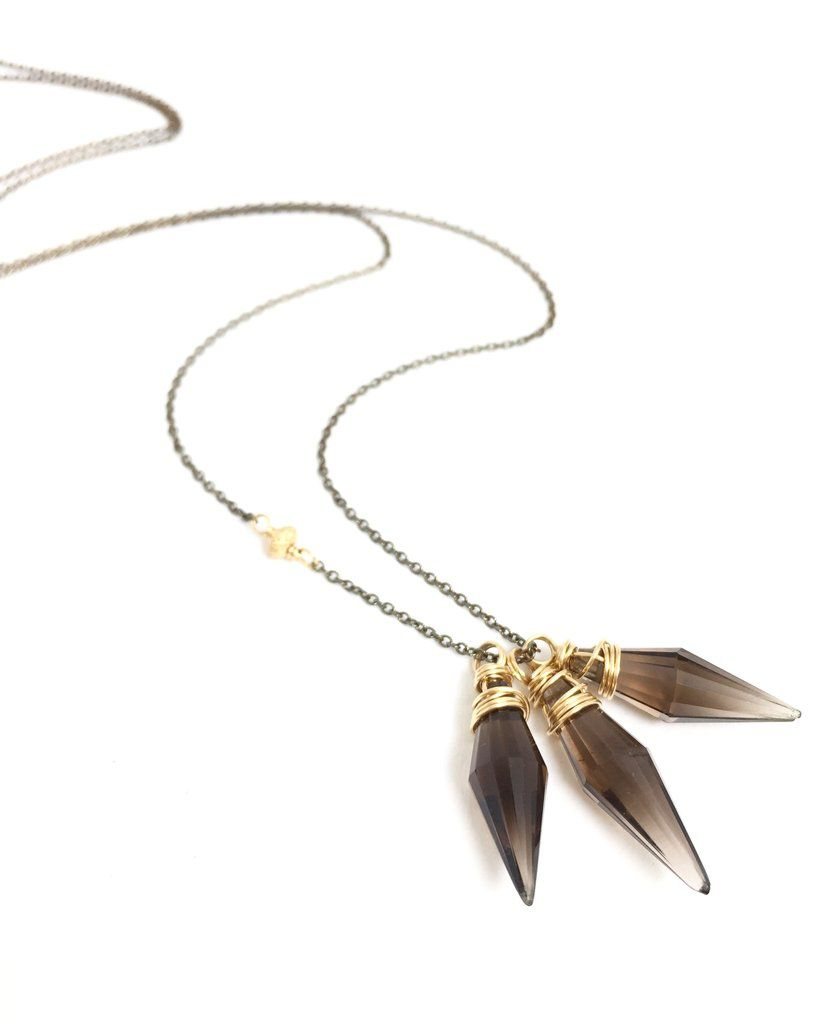 Smoky Quartz Points Necklace