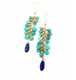 Dotted Line Audra Earrings