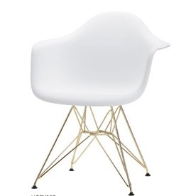 Nuevo Greven Dining Chair, White/Gold