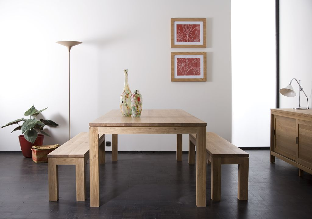 Straight Oak Dining Table