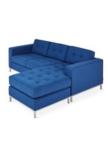 Jane Loft Bi-Sectional, Stainless Steel Base
