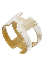 Buffalo Horn Bangle with Cut Outs